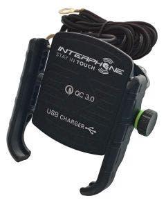 Interphone Motocrab Evo Holder With Usb